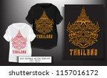 t shirt print design.thailand...   Shutterstock .eps vector #1157016172