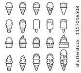 ice cream icons   ice cream...   Shutterstock .eps vector #1157016508