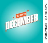 december  month of the year | Shutterstock .eps vector #1157016892