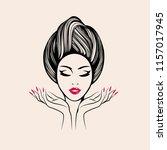 beauty  nail art and hair salon ... | Shutterstock .eps vector #1157017945