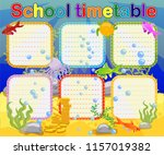 design of the school timetable... | Shutterstock .eps vector #1157019382