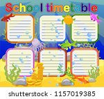 design of the school timetable... | Shutterstock .eps vector #1157019385