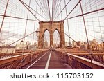 brooklyn bridge in new york | Shutterstock . vector #115703152
