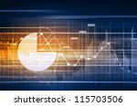 business graph with arrow... | Shutterstock . vector #115703506