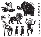 A Set Of African Animals...
