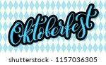oktoberfest celebration... | Shutterstock .eps vector #1157036305