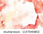 watercolor orange tactile... | Shutterstock . vector #1157040802