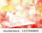 watercolor orange tactile... | Shutterstock . vector #1157040805