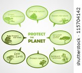 set of protect the planet green ... | Shutterstock .eps vector #115704142