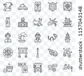 set of 25 transparent icons... | Shutterstock .eps vector #1157043148
