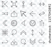 set of 25 transparent icons... | Shutterstock .eps vector #1157043892
