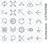 set of 25 transparent icons... | Shutterstock .eps vector #1157043988