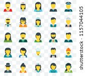 set of 25 transparent icons... | Shutterstock .eps vector #1157044105