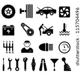 car maintenance and repair icon ...