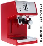 isolated coffe maker on a white ... | Shutterstock . vector #1157045605