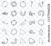 set of 25 transparent icons... | Shutterstock .eps vector #1157046028