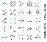 set of 25 transparent icons... | Shutterstock .eps vector #1157046202
