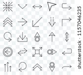 set of 25 transparent icons... | Shutterstock .eps vector #1157046235