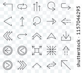 set of 25 transparent icons... | Shutterstock .eps vector #1157046295