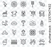 set of 25 transparent icons... | Shutterstock .eps vector #1157047432