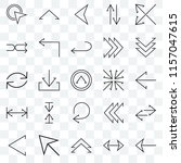 set of 25 transparent icons... | Shutterstock .eps vector #1157047615