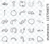 set of 25 transparent icons... | Shutterstock .eps vector #1157048575