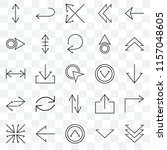 set of 25 transparent icons... | Shutterstock .eps vector #1157048605