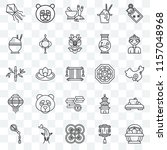 set of 25 transparent icons... | Shutterstock .eps vector #1157048968