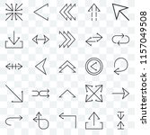 set of 25 transparent icons... | Shutterstock .eps vector #1157049508