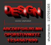 modern red font design for... | Shutterstock .eps vector #1157051305