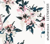 seamless floral pattern with... | Shutterstock .eps vector #1157069335