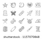 needlework charcoal icon set.... | Shutterstock .eps vector #1157070868