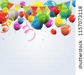 color glossy happy birthday... | Shutterstock . vector #1157073118