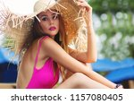 summer lifestyle fashion... | Shutterstock . vector #1157080405