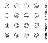 set outline icon eps 10 vector... | Shutterstock .eps vector #1157082538