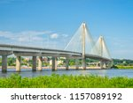 the clark bridge  a cable... | Shutterstock . vector #1157089192