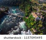 rhine falls  rheinfall ...   Shutterstock . vector #1157095495