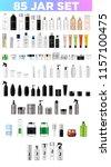 set vector blank templates... | Shutterstock .eps vector #1157100475