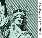 statue of liberty  vector... | Shutterstock .eps vector #1157105245