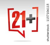 twenty one 21 plus sign in... | Shutterstock .eps vector #1157106115