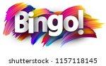 Bingo Card. Colorful Brush...