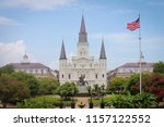 st. louis cathedral and jackson ...   Shutterstock . vector #1157122552