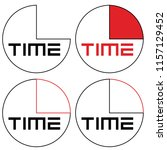 abstract clock with logo time... | Shutterstock .eps vector #1157129452