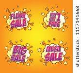 sale speech bubble in comic... | Shutterstock .eps vector #1157141668