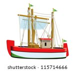 Little Fishing Ship Model...