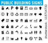 Public Building Signs Vector
