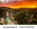 Sunset At Turner Falls In...