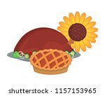 roasted turkey design | Shutterstock .eps vector #1157153965