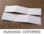 mockup of white booklet on... | Shutterstock . vector #1157159632