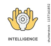 icon intelligence. a light bulb ... | Shutterstock .eps vector #1157161852